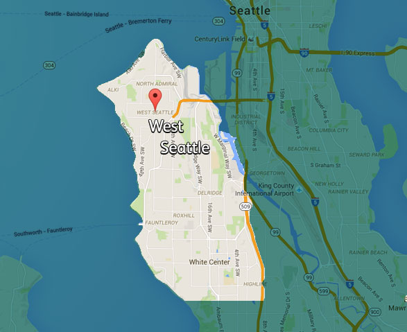 Emerald State Electric Service Map of West Seattle, Washington
